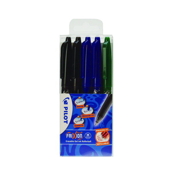 Assorted Pilot FriXion Ball Erasable Rollerball Pen Fine Assorted (5 Pack) 224300530