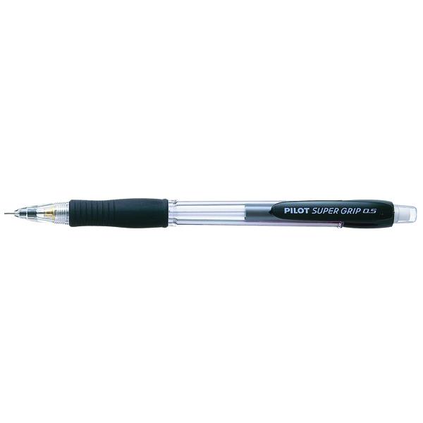 Pilot Super Grip Mechanical Pencil 0.5mm HB Black (12 Pack) 506101201