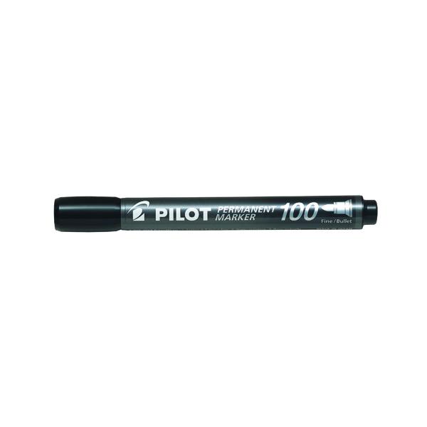Pilot 100 Permanent Market Bullet Tip Black (20 Pack) 3131910501268