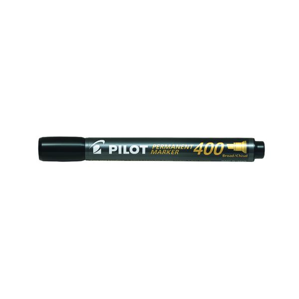Pilot 400 Permanent Marker Chisel Tip Black (20 Pack) 3131910504061