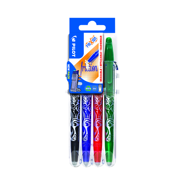 Assorted Pilot FriXion Set2Go Rollerball Pens Assorted (4 Pack) 3131910546795