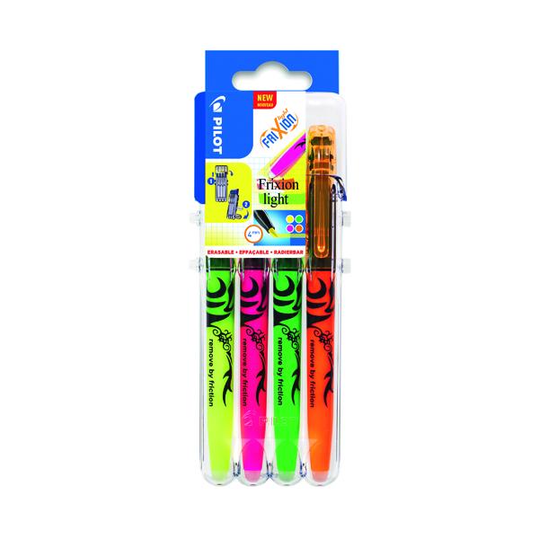 Assorted Pilot FrXiion Set2Go Light Highlighter Rollerball Pens Assorted (4 Pack) 3131910546818