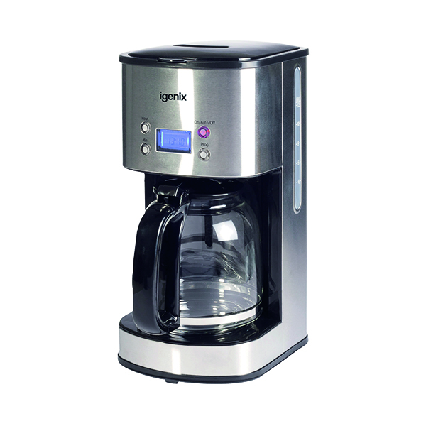 Machines Digital 10 Cup Coffee Maker Silver IG8250