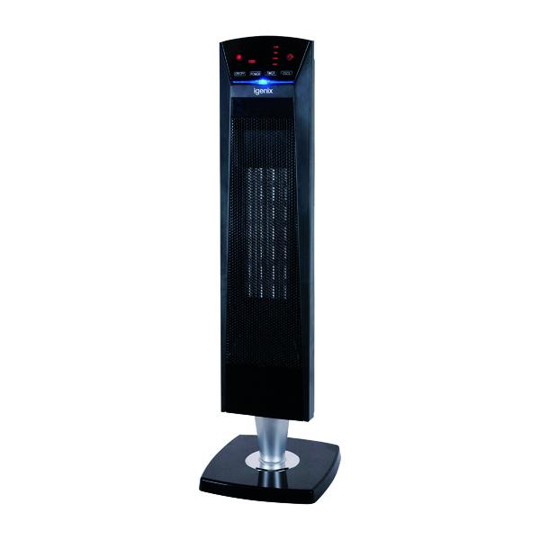 Fan Heaters 2kW PTC Ceramic Tower Fan Heater Black IG9031