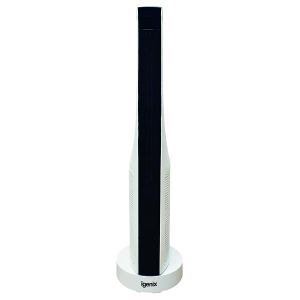 Fan Heaters 2kW PTC Ceramic Tower Fan Heater White IG9032