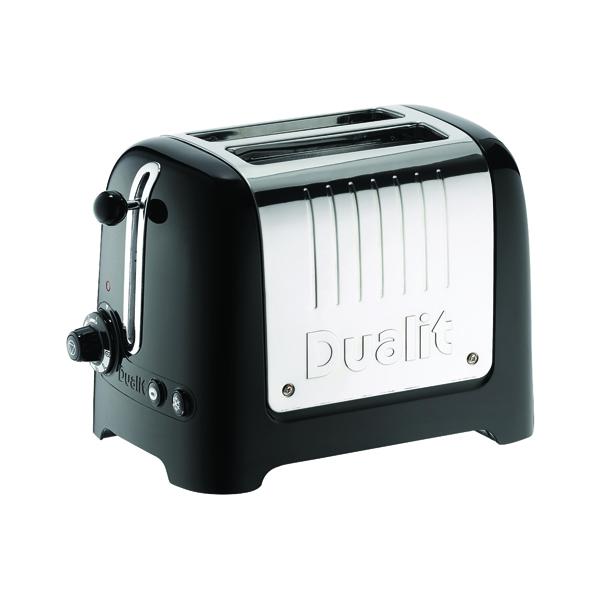 Toaster Dualit 2 Slice High Gloss Lite Toaster Black DA2625