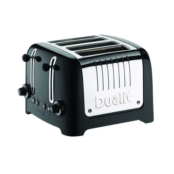 Toaster Dualit 4 Slice High Gloss Lite Toaster Black DA6205
