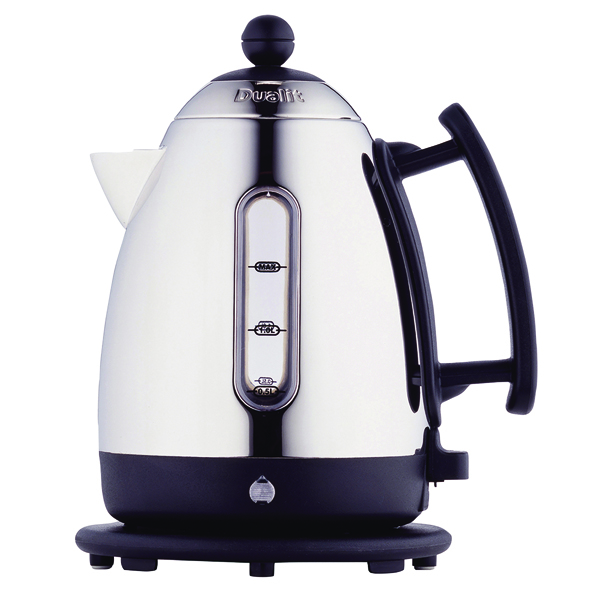Kettle Dualit 1.5L Cordless Jug Kettle Stainless Steel with Black Trim DA0500