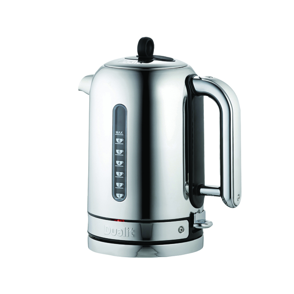 Kettle Dualit 1.7L 3KW Classic Cordless Jug Kettle Stainless Steel DA2815