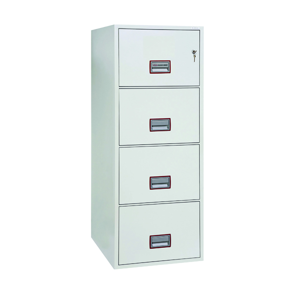 Safes Phoenix 4 Drawer 90 Minute Fire Rated Filing Cabinet FS2254K