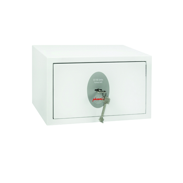 Safes Phoenix Fortress High Security Burglary Safe White SS1181K