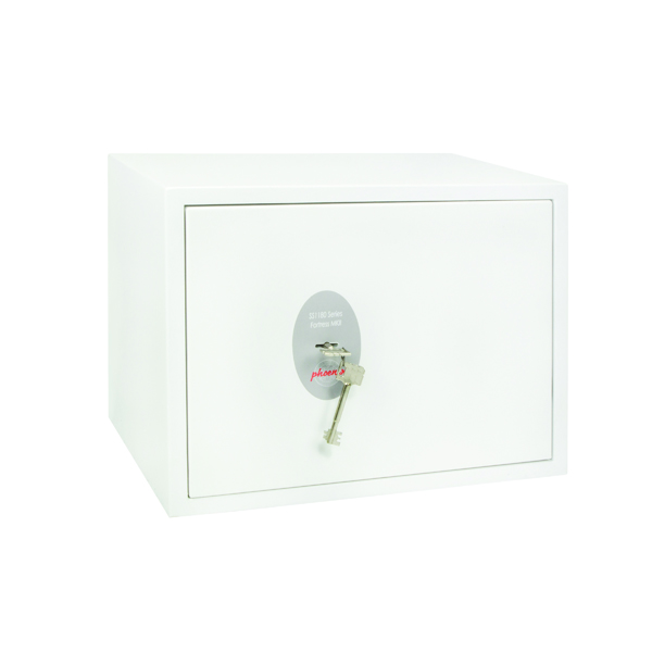 Key Store Phoenix Fortress High Security Burglary Safe White SS1182K
