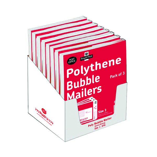 Polythene Size 3 Bubble Mailer (13 Pack) 101-3490