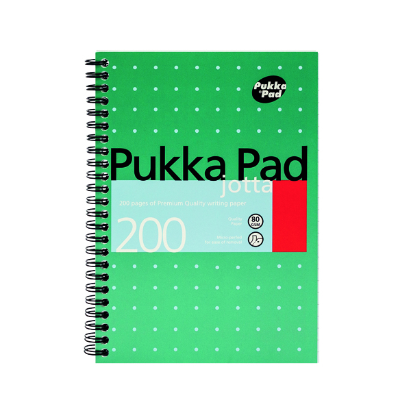Pukka Pad Ruled Wirebound Metallic Jotta Notebook 200 Pages A5 (3 Pack) JM021