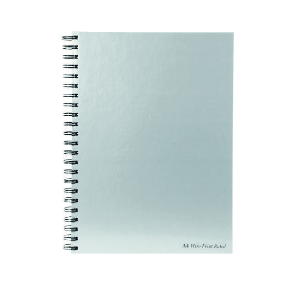 A4 Pukka Pad Silver Ruled Wirebound Notebook 160 Pages A4 (5 Pack) WRULA4