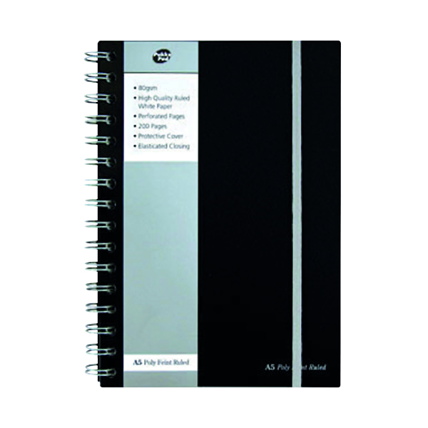 A5 Pukka Pad Polypropylene Ruled Jotta Notebook A5 (3 Pack) SBJPOLYA5