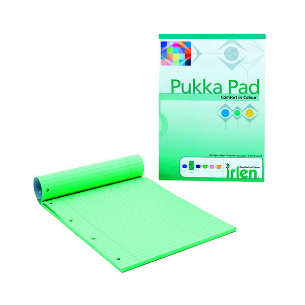 Ruled Pukka Pad Green Refill Pad (6 Pack) IRLEN50