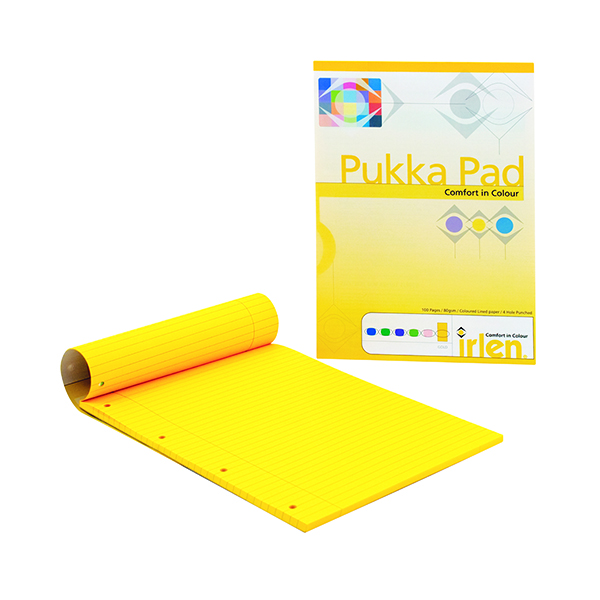 Ruled Pukka Pad Gold Refill Pad A4 (6 Pack) IRLEN50