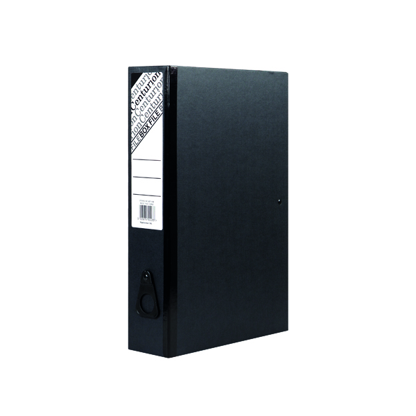 Foolscap (Legal) Size Centurion Box File Black (10 Pack) C1282