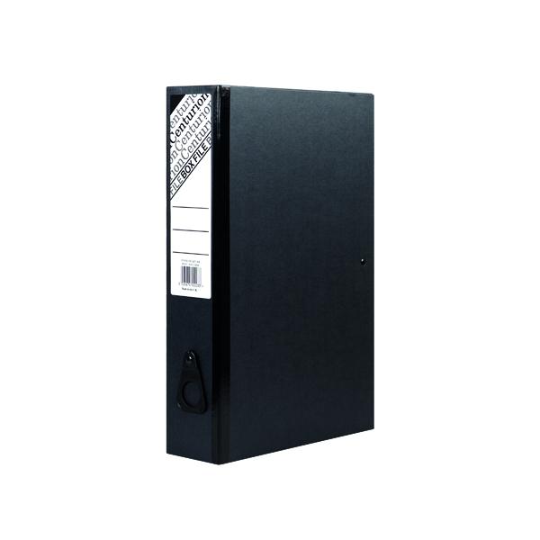 Foolscap (Legal) Size Centurion Box File Black (10 Pack) C1282