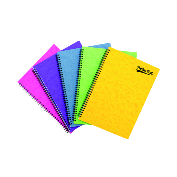 Ruled Pukka Notemakers Sidebound A4 Assorted (10 Pack) 7268-PRS