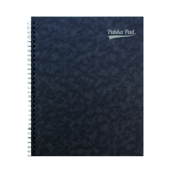 Ruled Pukka Notemakers Sidebound A4 Black (10 Pack) 7277-PRS