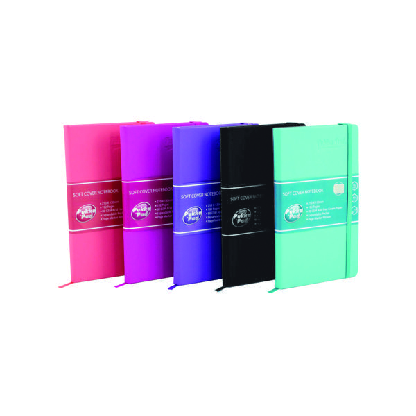 Pukka Pad Signature Soft Cover Notebook Casebound A5 Assorted (5 Pack) 7747-SIG