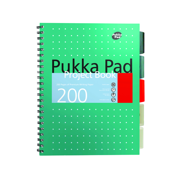 Unspecified Pukka Pad Metallic Cover Wirebound Project Book B5 (3 Pack) 8518-MET