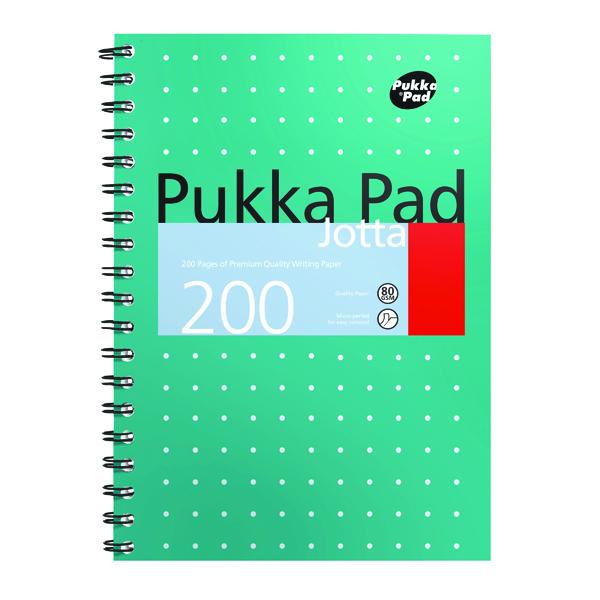 Pukka Pad Metallic Cover Wirebound Jotta Notebook B5 (3 Pack) 8520-MET