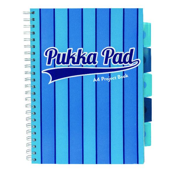 Pukka Pad Vogue Wirebound Project Book A4 Blue (3 Pack) 8538-VOG