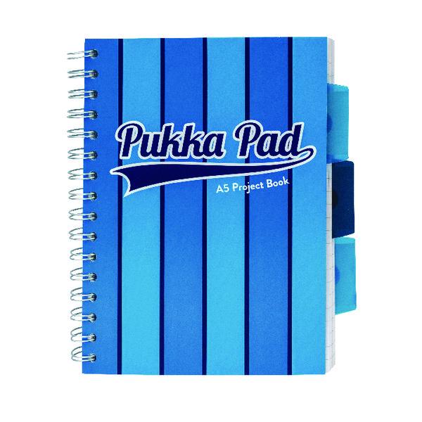 Pukka Pad Vogue Wirebound Project Book A5 Blue (3 Pack) 8540-VOG
