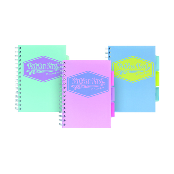 Pukka Pad Pastel Project Book A5 (3 Pack) 8631-PST