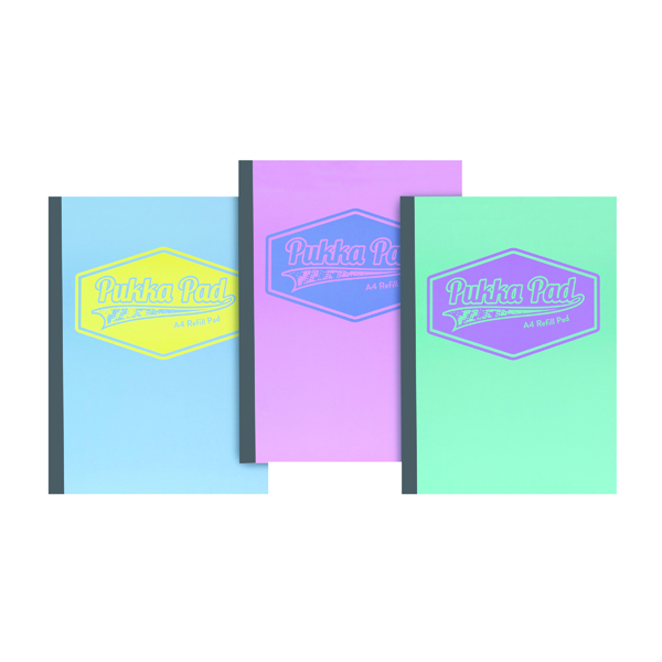 Pukka Pastel Refill Pads A4 (3 Pack) 8902-PST