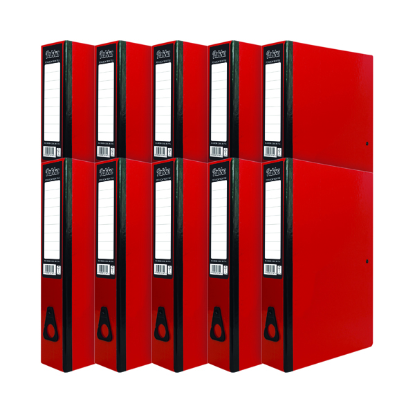 Foolscap (Legal) Size Pukka Brights Box File Foolscap Red (10 Pack) BR-7774