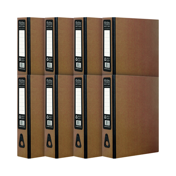 Foolscap (Legal) Size Pukka Recycled Box File Kraft (10 Pack) RF-9487