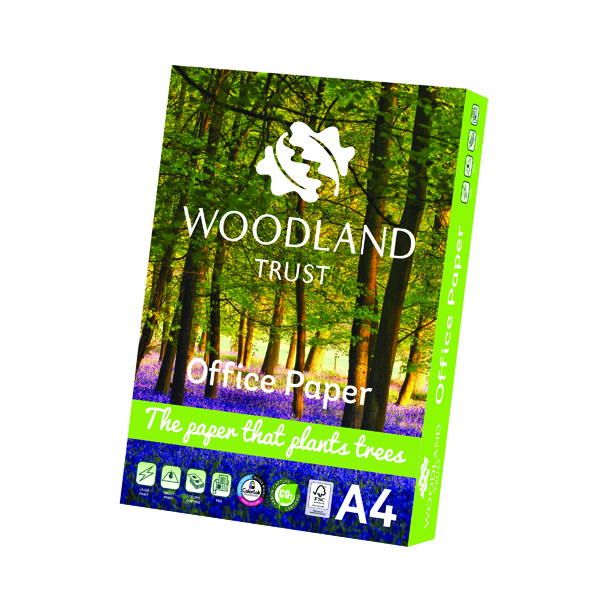 A4 Woodland Trust A4 Office Paper 75gsm (2500 Pack) WTOA4
