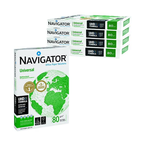 White 80gsm Navigator A3 Universal White Paper (2500 Pack) NAVA380