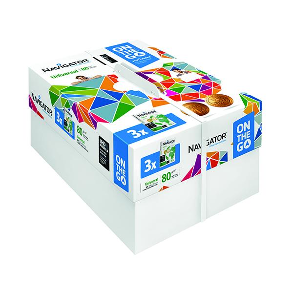 Navigator Universal On The Go 80gsm White (1500 Pack) NAVA4OTG