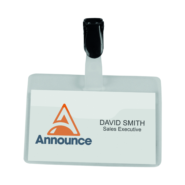 Announce Security Name Badge 60x90mm (25 Pack) PV00922