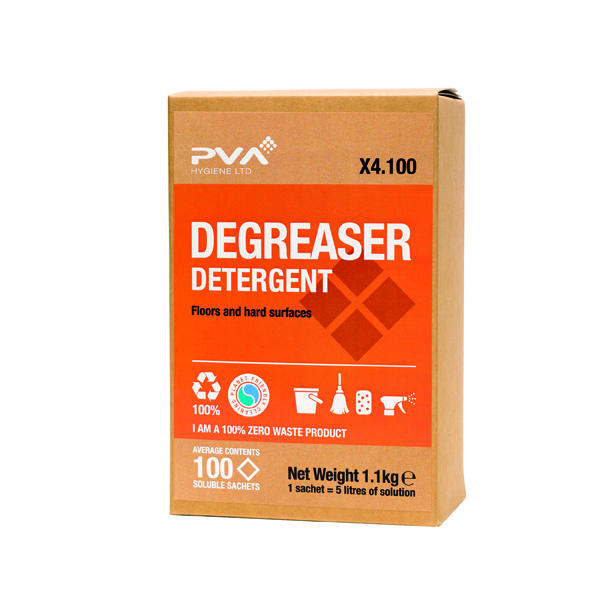 Cleaning Chemicals PVA Degreaser Detergent Sachets (100 Pack) PVAA4-100