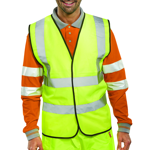 Hi-Viz Vest S/Yellow EN ISO 20471 Medium WCENGM