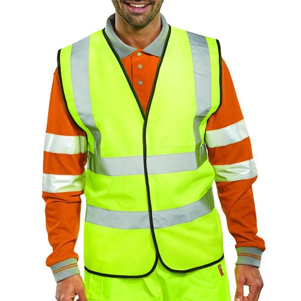 Hi-Viz Vest S/Yellow EN ISO 20471 XXL WCENGXXL