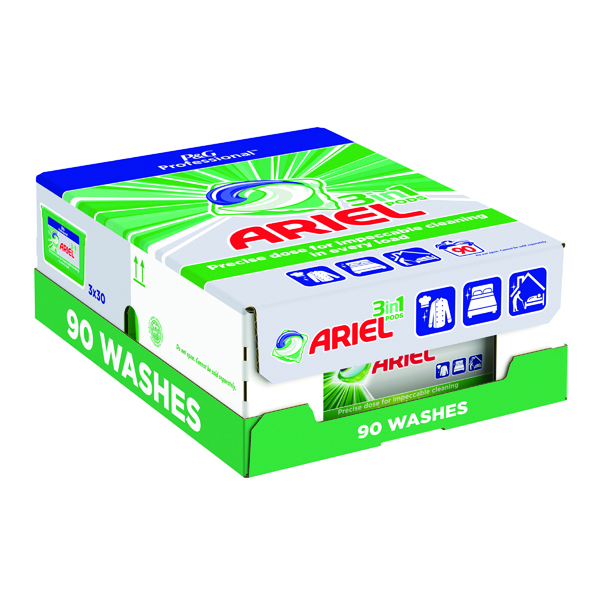Cleaning Chemicals Ariel Professional 3-in-1 Pods (90 Pack) C001573