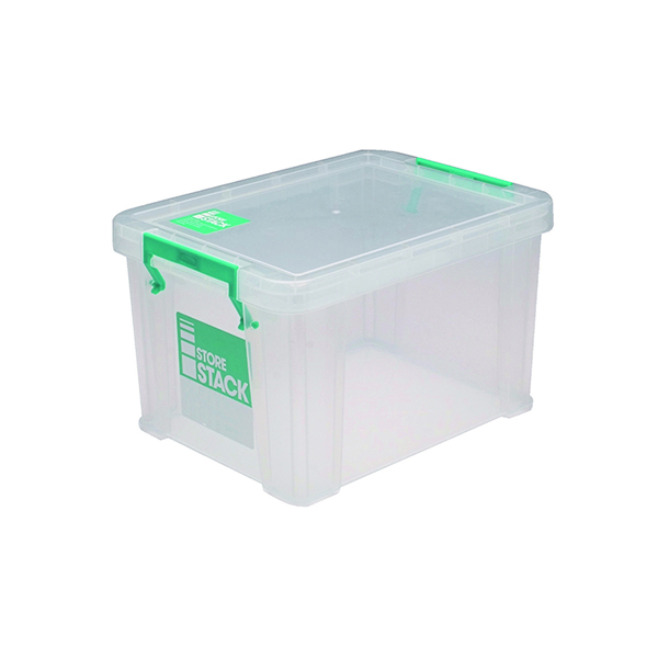 Boxes StoreStack 1 Litre Storage Box W180xD110xH90mm Clear RB00814