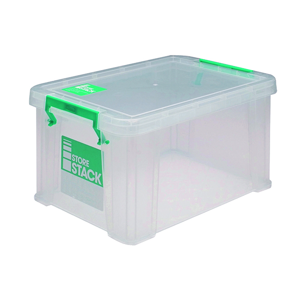Boxes StoreStack 1.7 Litre Storage Box W200xD130xH110mm Clear RB00815