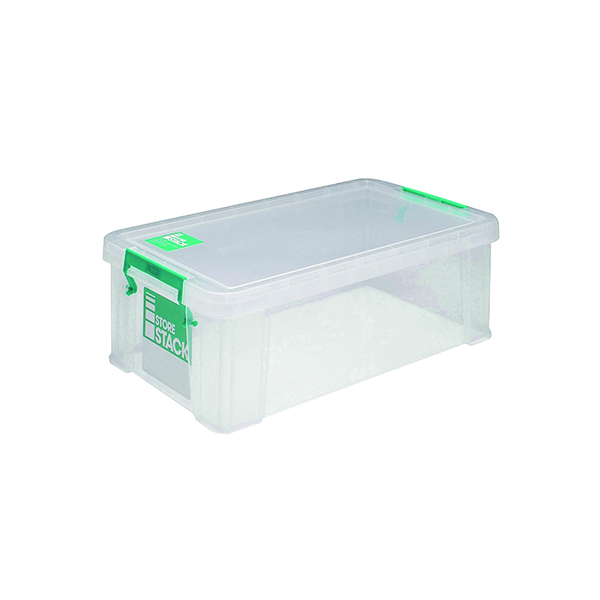 Boxes StoreStack 7.5 Litre Storage Box W250xD190xH160mm Clear RB00817