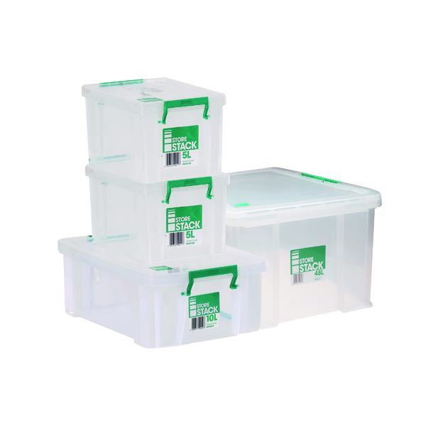 Boxes Storestack Box Bundle 2x5L 10L 48L (4 Pack) 48LBUNDLE