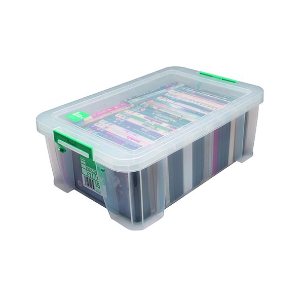 Boxes StoreStack 15 Litre Storage Box W300xD470xH170mm Clear RB11085