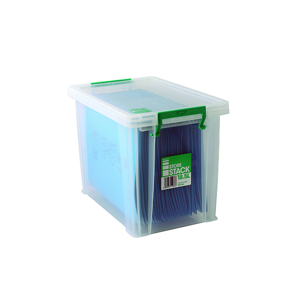 Boxes StoreStack 18.5 Litre Storage Box W400xD260xH290mm Clear RB11086