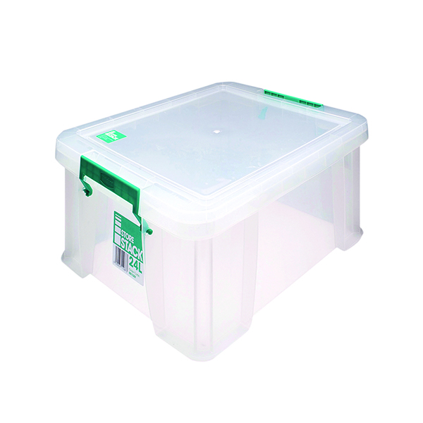 Boxes StoreStack 24 Litre Storage Box W480xD380xH190mm Clear RB11087